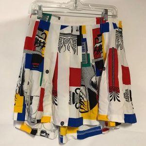 "Vintage art deco-esque pleated skirt 33"" W"